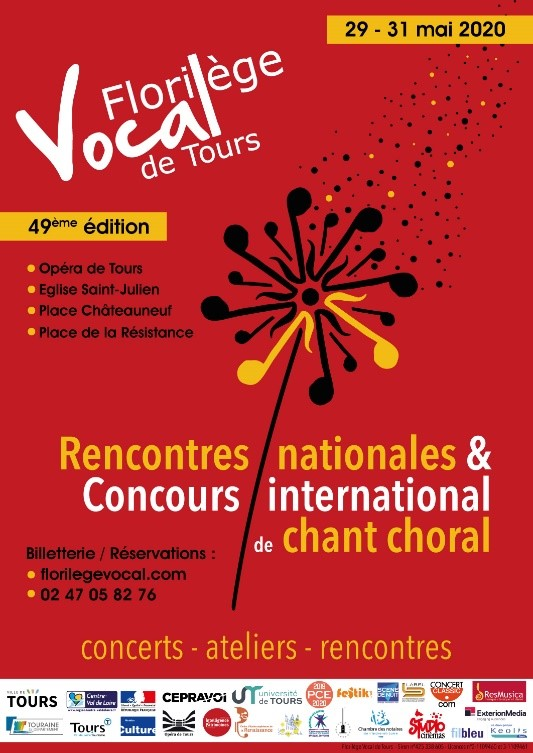 Affiche Florilège Vocal de Tours 2020